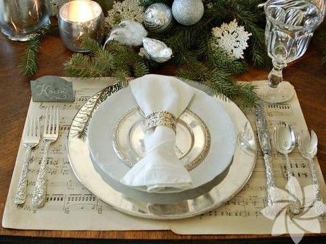 Christmas table decorations Holiday Fun times Pinterest Table - christmas table decorations