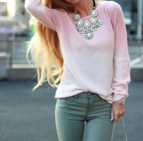 pretty spring colors #statementnecklace