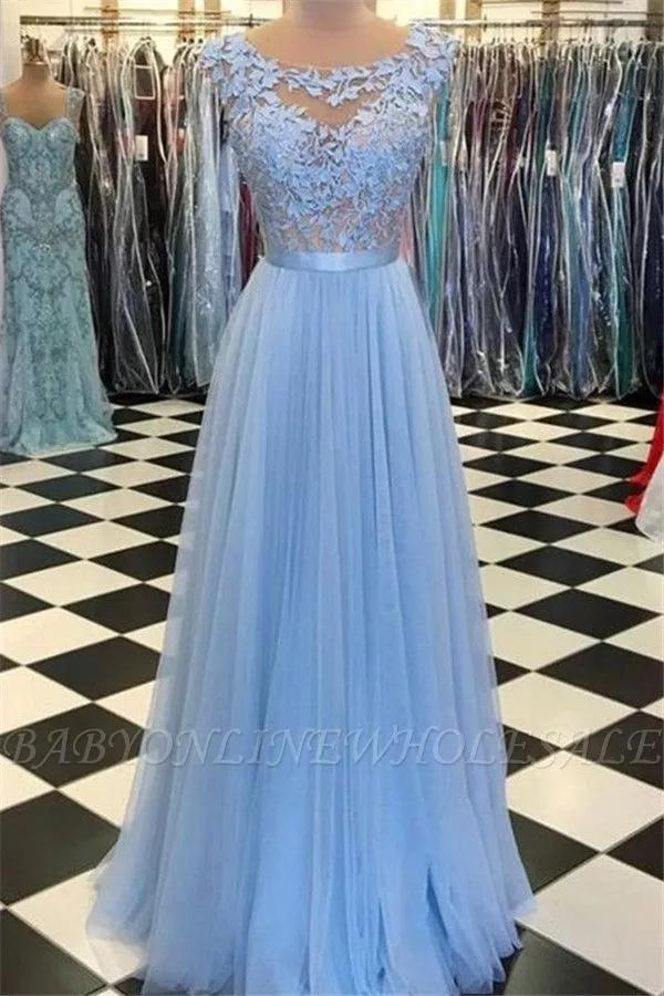 Moderne Kleider Abendkleider Lang Mit Spitze | Blaues ...