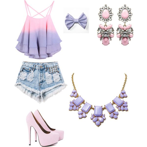 A fashion look from February 2015 featuring Runwaydreamz shorts, AX Paris pumps and Kate Spade necklaces. Browse and shop related looks.
