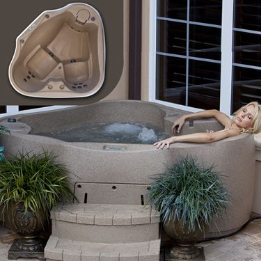 Hot Tub  Aqua Rest X 300 Corner Spa ComboX 300 Spa Silver Combo   Hot tubs  Tubs and Corner space. 2 Person Corner Hot Tub. Home Design Ideas