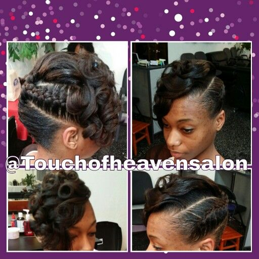 Inverted braided updo www.touchofheavensalon.com