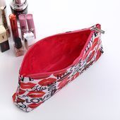Photo of 2020 New Waterproof Cosmetic Bag Travel Size Toiletries Zipper Pouch Lips Patter…