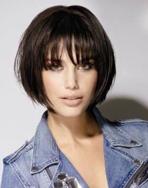 coupe cheveux carre degrade avec frange