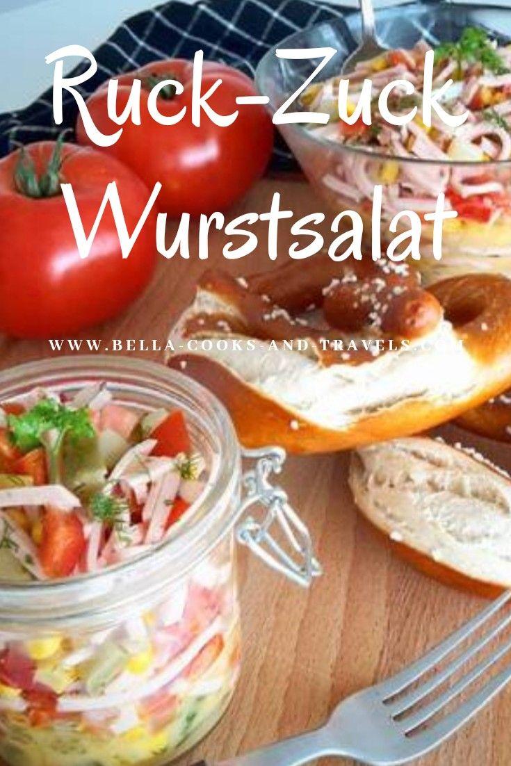 Leckeres, einfaches Rezept für superleckeren Wurstsalat #salat #lecker