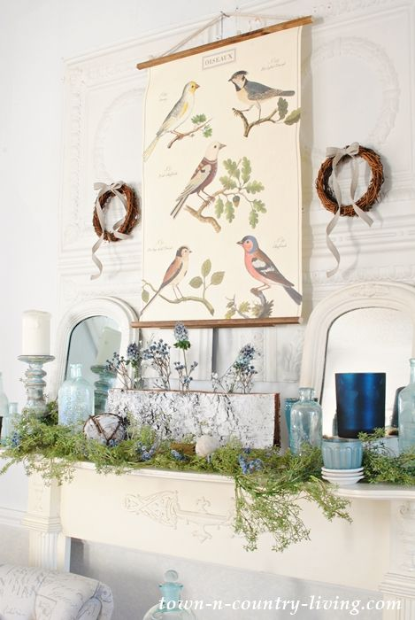 A Hygge Winter Mantle That Easily Transitions Into Spring.