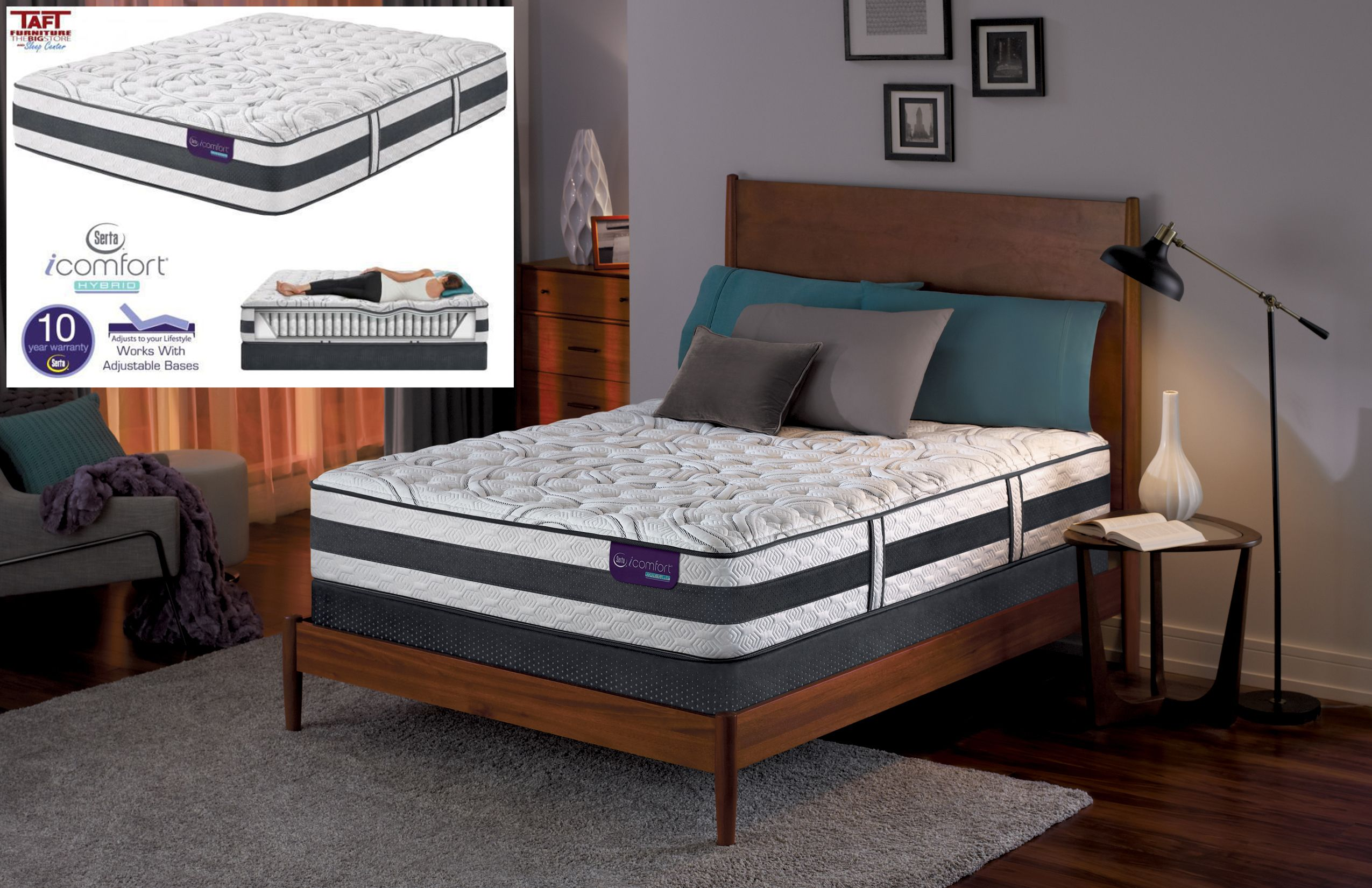 Sleep Soundly Through The Night On The Comfortable Serta Icomfort