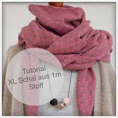 TUTORIAL einen XL-Schal aus 1 m Stoff nähen #scarves