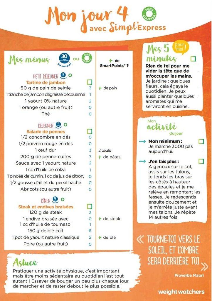 2ème semaine de menus simpl'express #menus