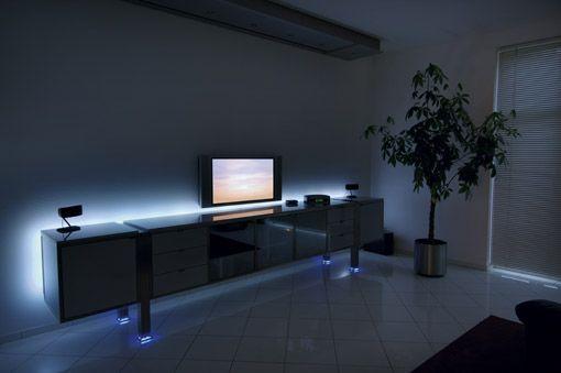 dressoir sfeerverlichting led strips verlichting http://www.ledstrip ...