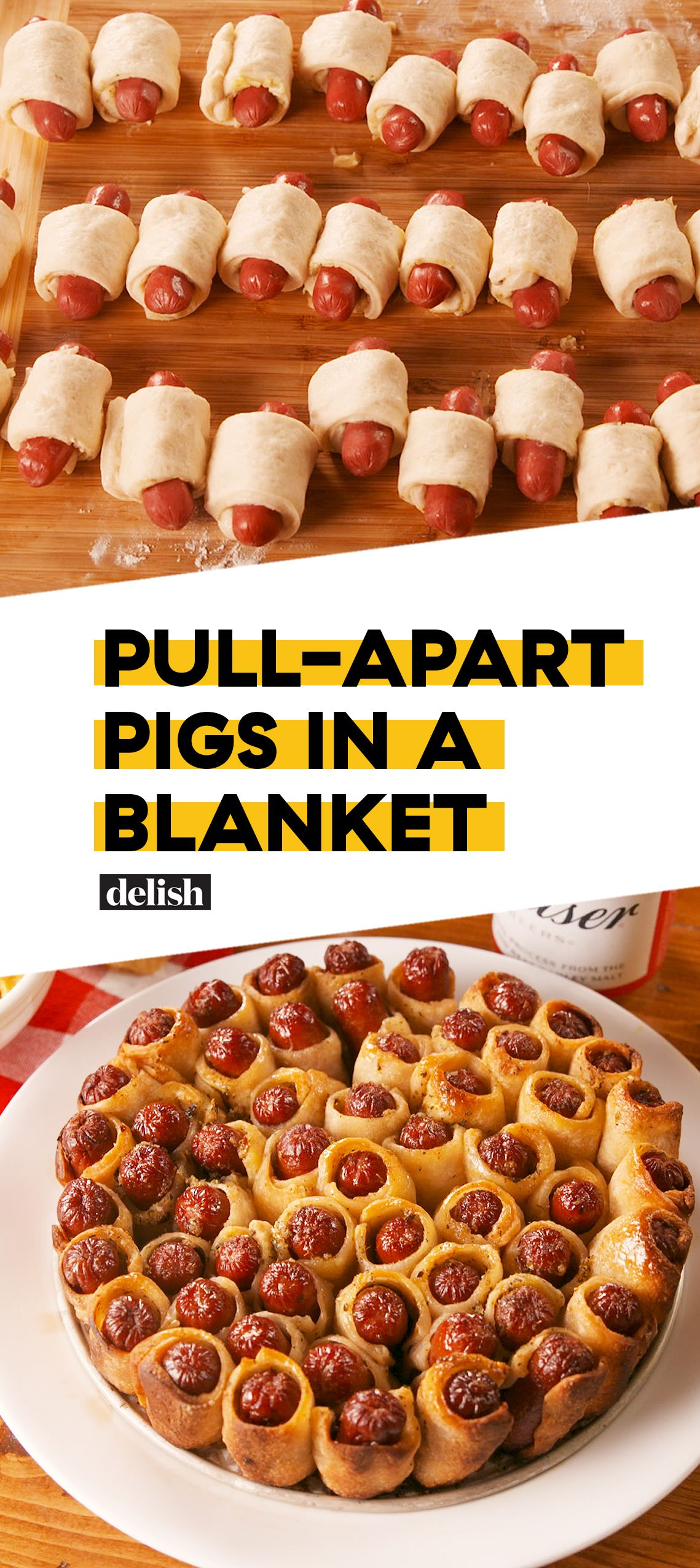 Pull-Apart Pigs In A Blanket #appetizersforparty