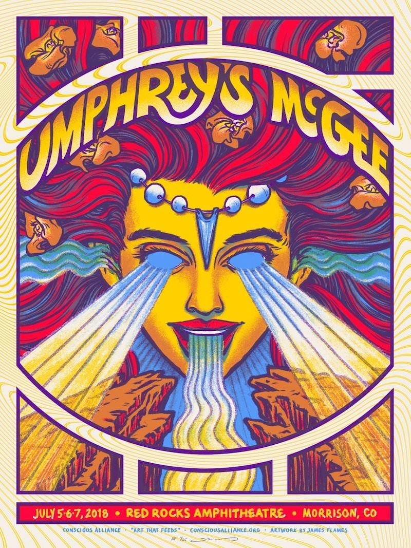 umphreys mcgee poster by james flames