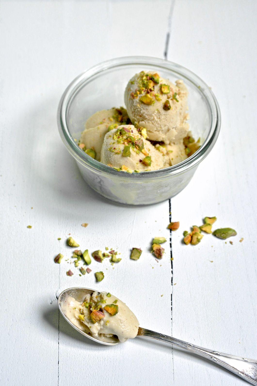 Recette Glace Pistache Sans Oeufs glace onctueuse (trop bonne) à la pistache // sans lactose