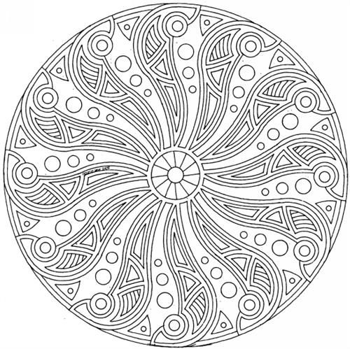 10 Mandalas para colorear difíciles (8) | MANDALAS PARA COLOREAR ...