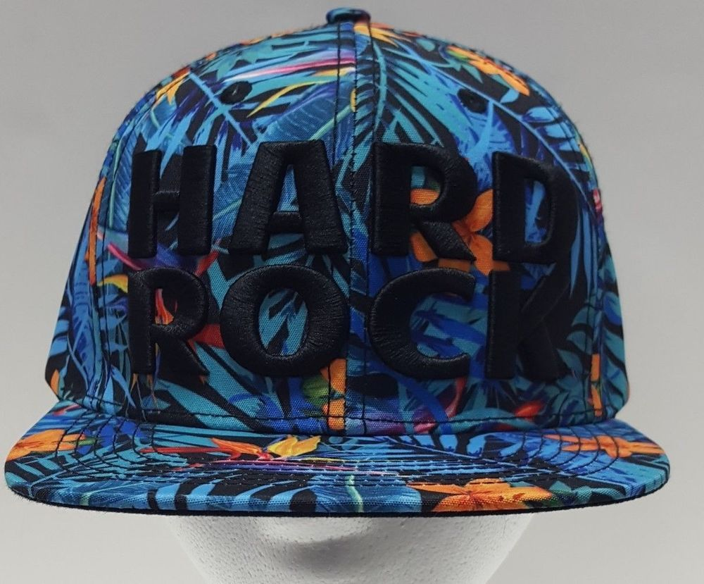 75fa9894065 New Hard Rock Cafe Amsterdam Floral Trucker Hat Black Logo Snap back Cap   HardRock  TruckerHat