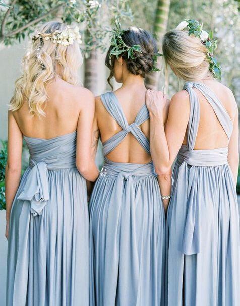 Convertible bridesmaid dress, long bridesmaid dress, jersey bridesmaid dress, popular bridesmaid dress, cheap bridesmaid dress, PD15340