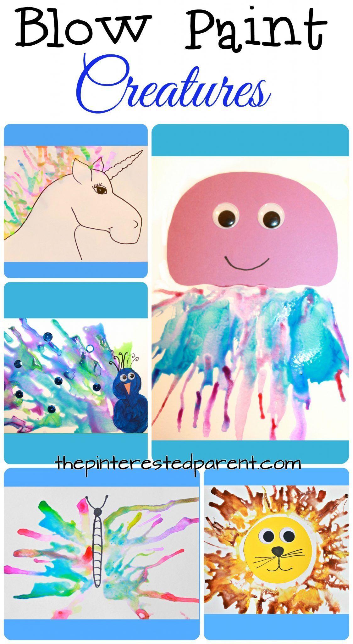 Blow Paint Art Creatures