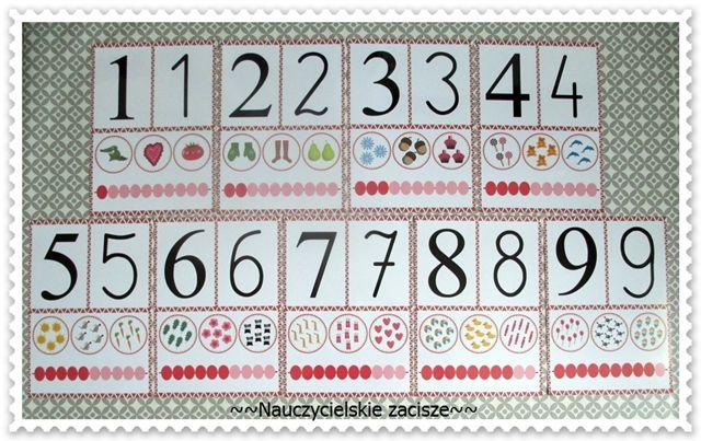 Plansze Demonstracyjne Liczby 1 9 Numbers Wall Display Chcesz Kupic Zamowienia Na Allegro Zaciszekg Lub Mail Nauczycielskiezacisze W Periodic Table Diagram