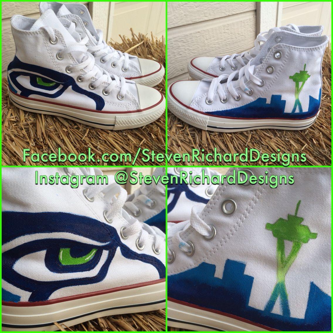 Custom Seattle Seahawks Chuck Taylor's
