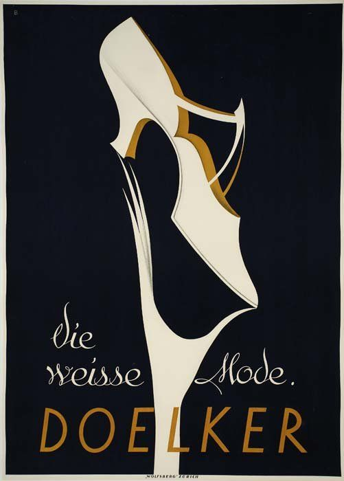 Doelker - 1923 - The white mode - Fashion illustration by Otto Baumberger
