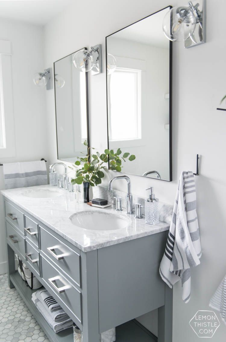 A Modern Bathroom Makeover One Room Challenge Reveal Marbles - Modern bathroom makeovers