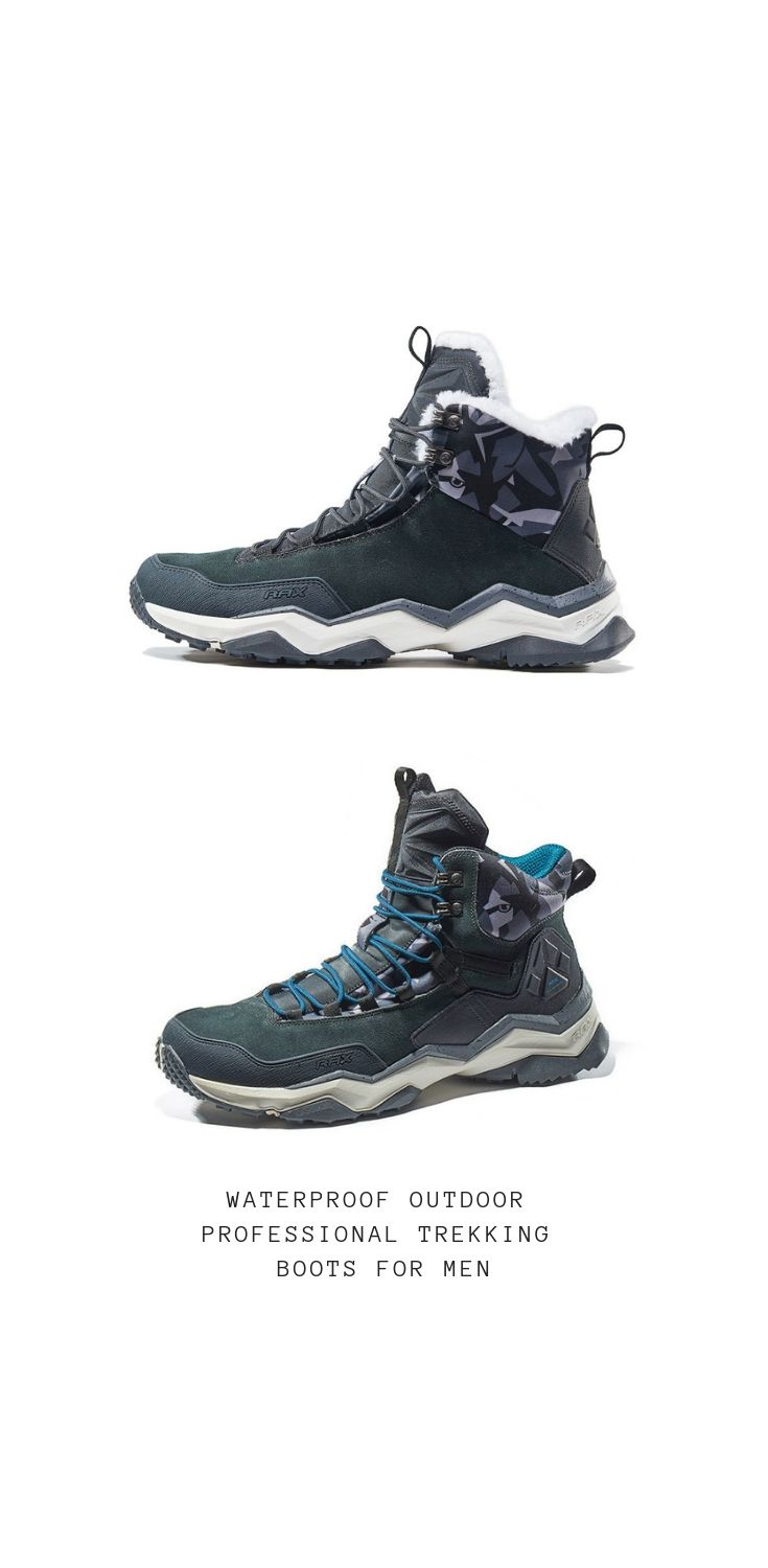 c71d868016d Winter Men Hiking Boots Waterproof Outdoor Professional Trekking Boots for Men  Lightweight Mountain Walking Shoes Men
