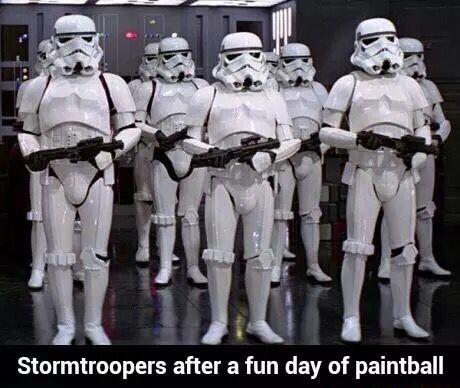Storm Troopers Playing Paintball Star Wars Memes Star Wars Humor Star Wars Jokes