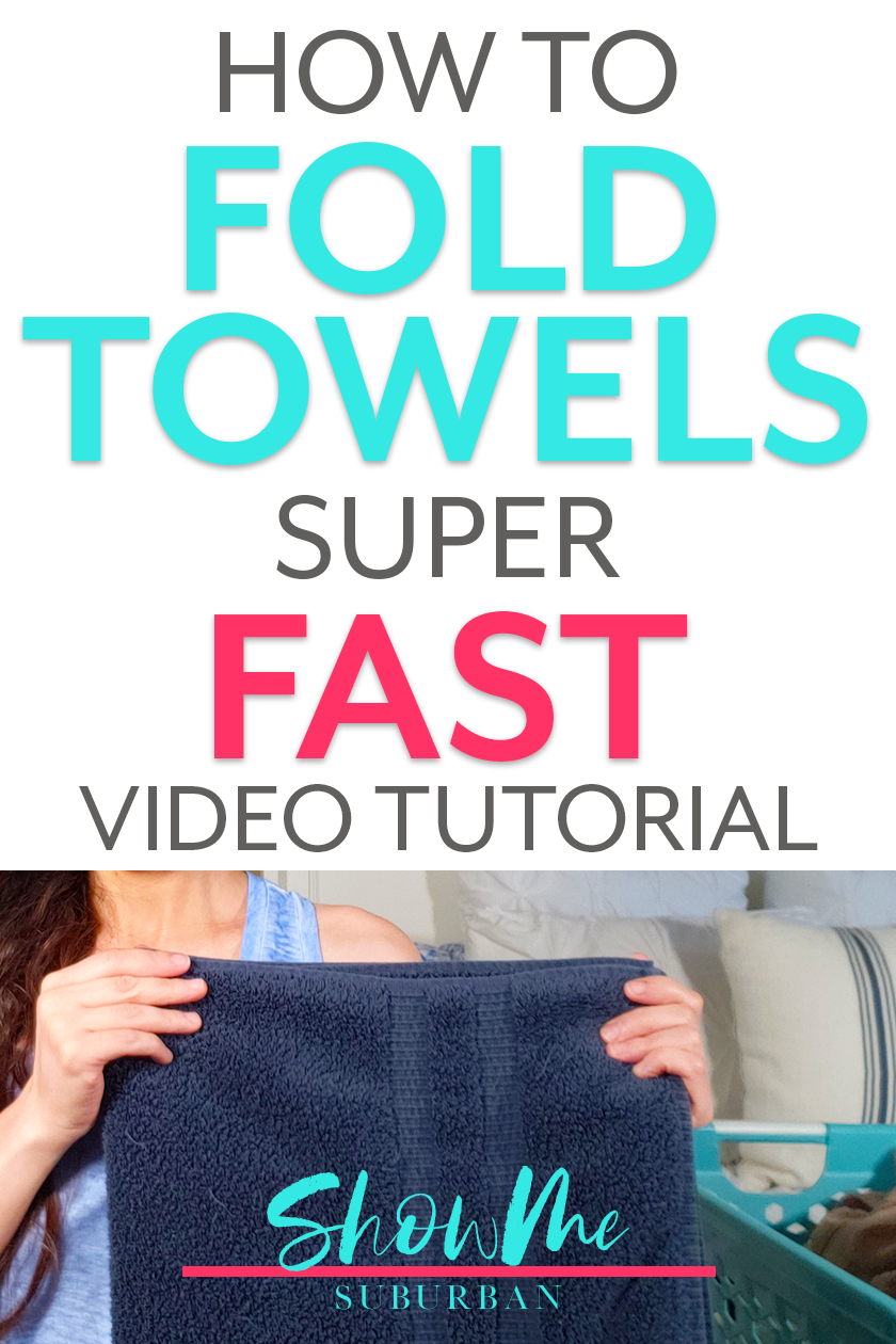 Laundry Hack How To Fold Towels Fast In 2020 How To Fold Towels