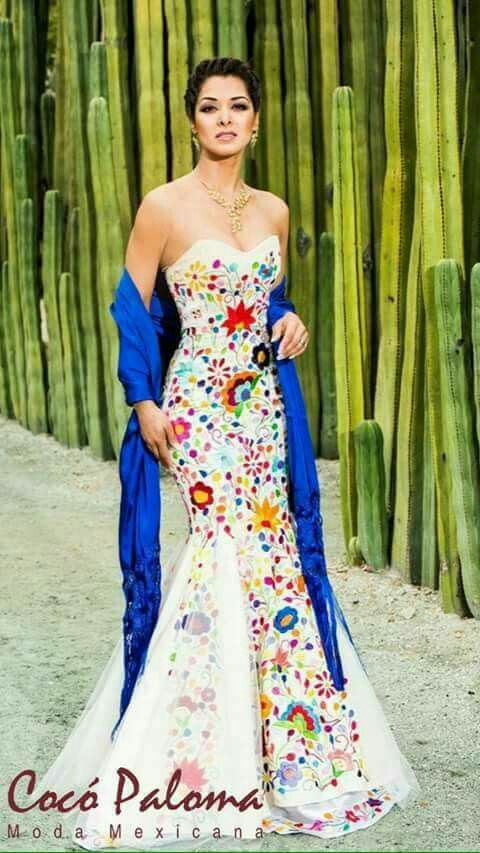 The Blue Shawl Yaaaaas It Can Be My Something Blue Or Borrowed Mexican Dresses Embroidered Wedding Dress Mexican Wedding Dress