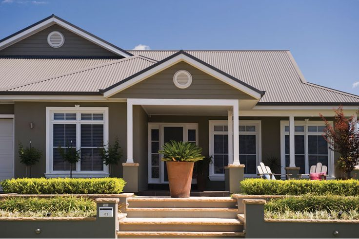 Houses Painted In Colorbond Gully Google Search Beach House Exterior Facade House Beach House Design