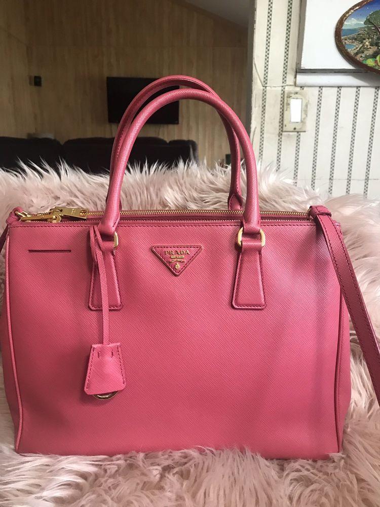 e98fbadfe657 Authentic Prada Double Zip Lux Tote Saffiano Leather Pink Medium Handbag.  #product #fashion #prada #louisvatton #handbag