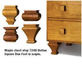 Wood Furniture Feet Square Bun Feet For Cabinets Furniture Wood Furniture Furniture Feet Wood Diy
