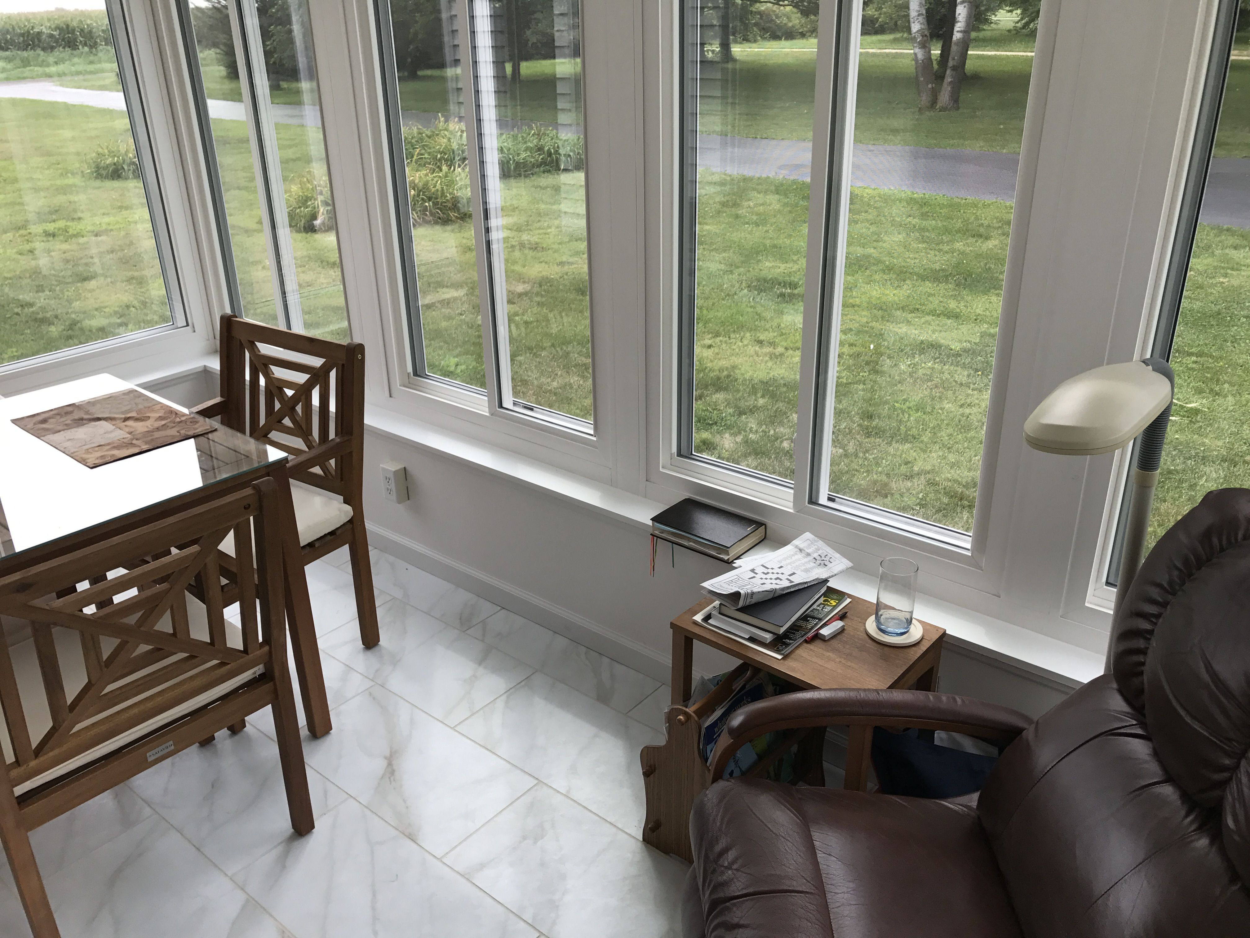 Interior Of The LivingSpace Transitions Sunroom Addition. The Overall  Sunroom Is 14u0027 X 12
