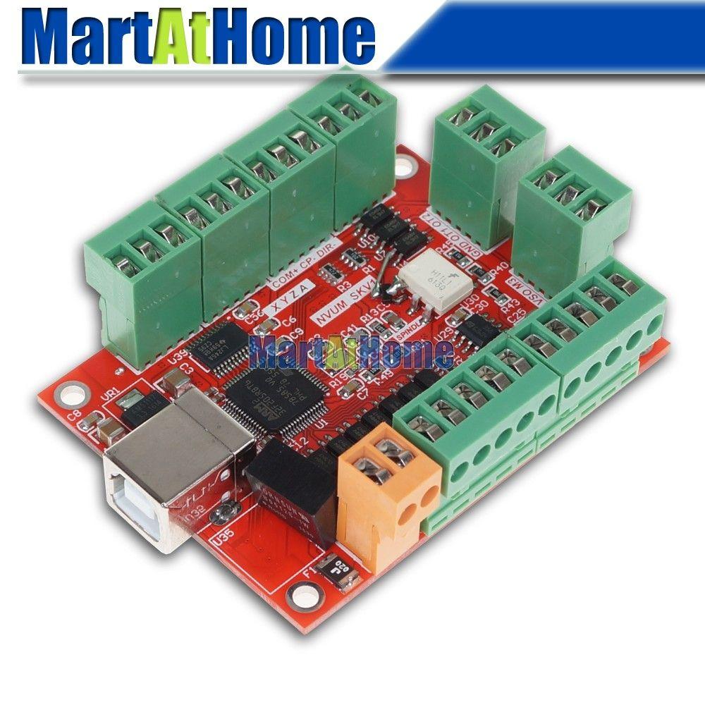 Free Shipping MC101 CNC 4 Axis 100KHz MACH3 USB Motion Control Card on
