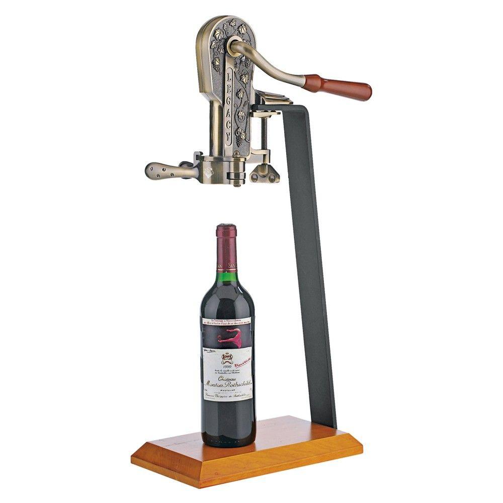 Legacy Corkscrew With Stand Bronze Walnut Bronze Walnut Wine Bottle Opener Wine Enthusiast