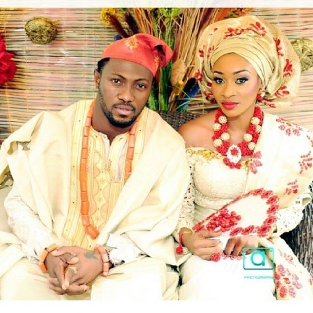 Traditional Nigerian Wedding Gowns: Red And Gold Nigerian Traditional.