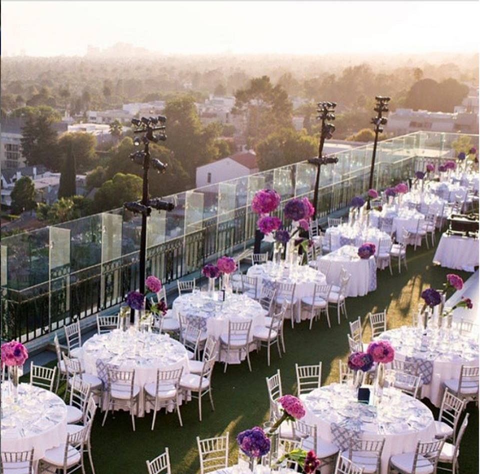 Rooftop View Of The London West Hollywood Hotel Ready For A Wedding Https