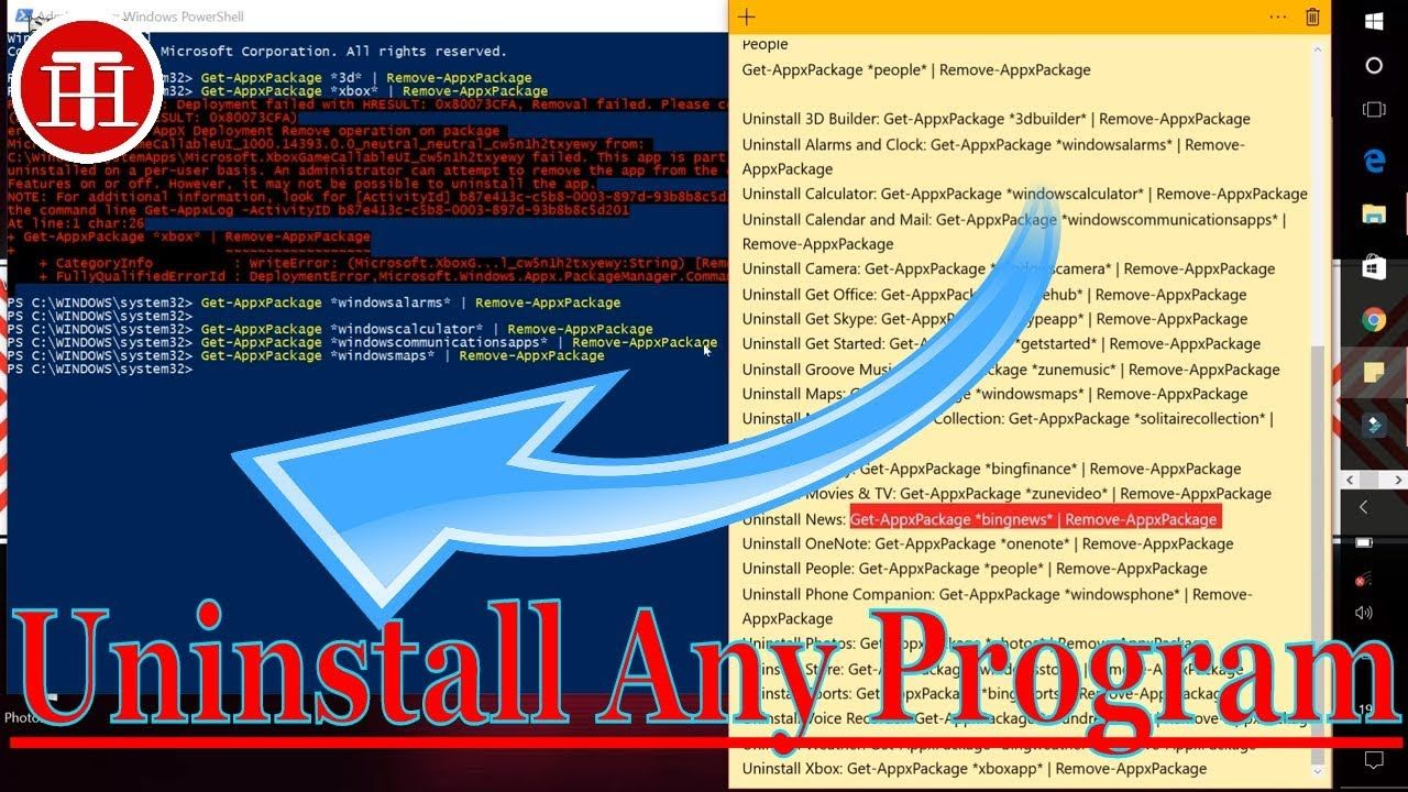 Uninstall Any Programs/Apps That Won't Uninstall From Windows[ 10