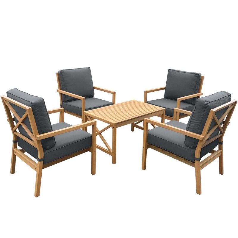 Find Gardinio Wooden 4 Seater Garden Lounge Set At Homebase Visit Your Local For