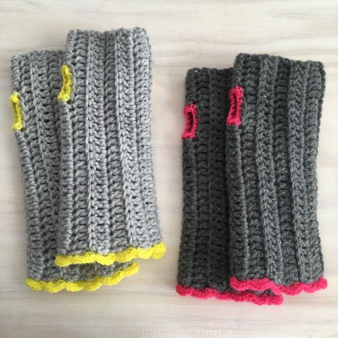 Mitones Tejidos A Crochet (fingerless mittens) | @LasVaretasCrochet ...