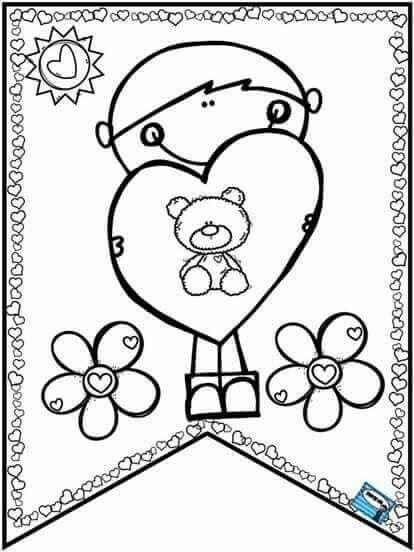 Amor Y Amistad Dibujos Amor Y Amistad Dibujos Libros Para Colorear