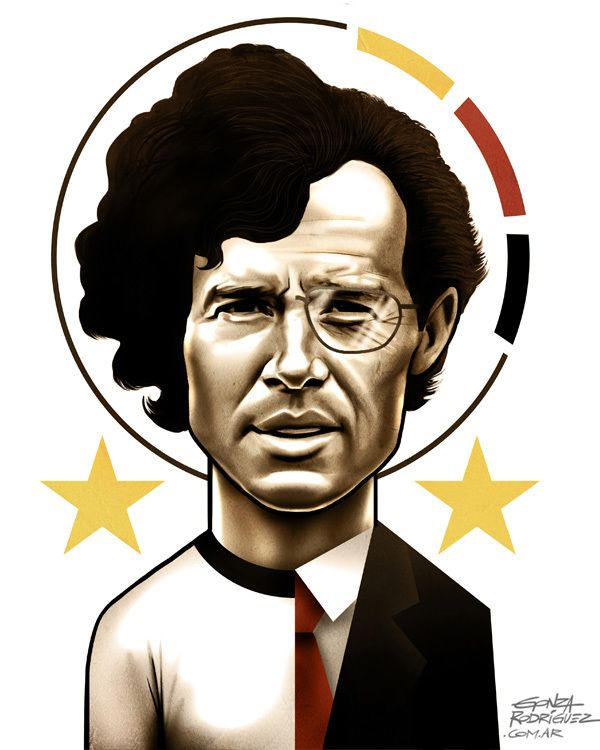 World Cup Caricatures by Gonza Rodriguez, via Behance
