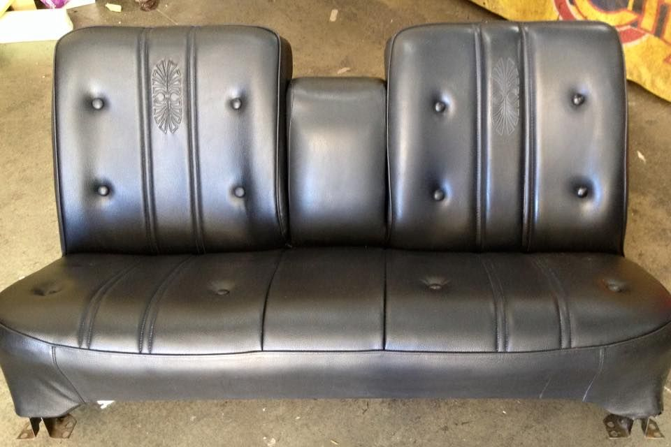 HG Premier front seat respring & recover. Leather repair