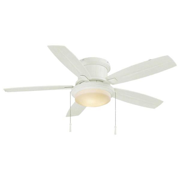 Hampton Bay Roanoke 48 In Led Indoor Outdoor Matte White Ceiling Fan With Light Kit Yg216 Mwh The Home In 2020 White Ceiling Fan Ceiling Fan With Light Ceiling Fan