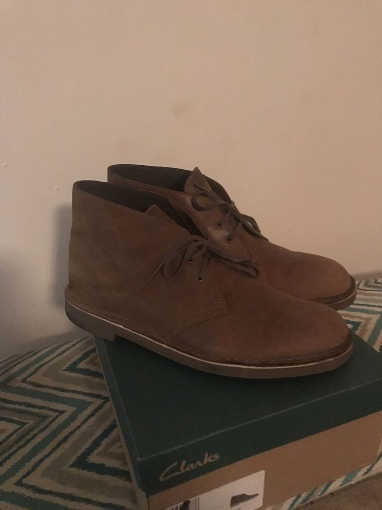 Clarks Bushacre 2 Chukka Boot Brown Leather Beeswax Sole Mens Sz 10 5 Fashion Clothing Shoes Accessories Mensshoes With Images Chukka Boots Boots Brown Leather Boots