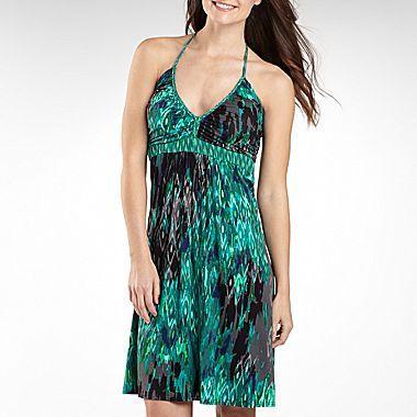 a.n.a® Printed Braid Neck Halter Dress