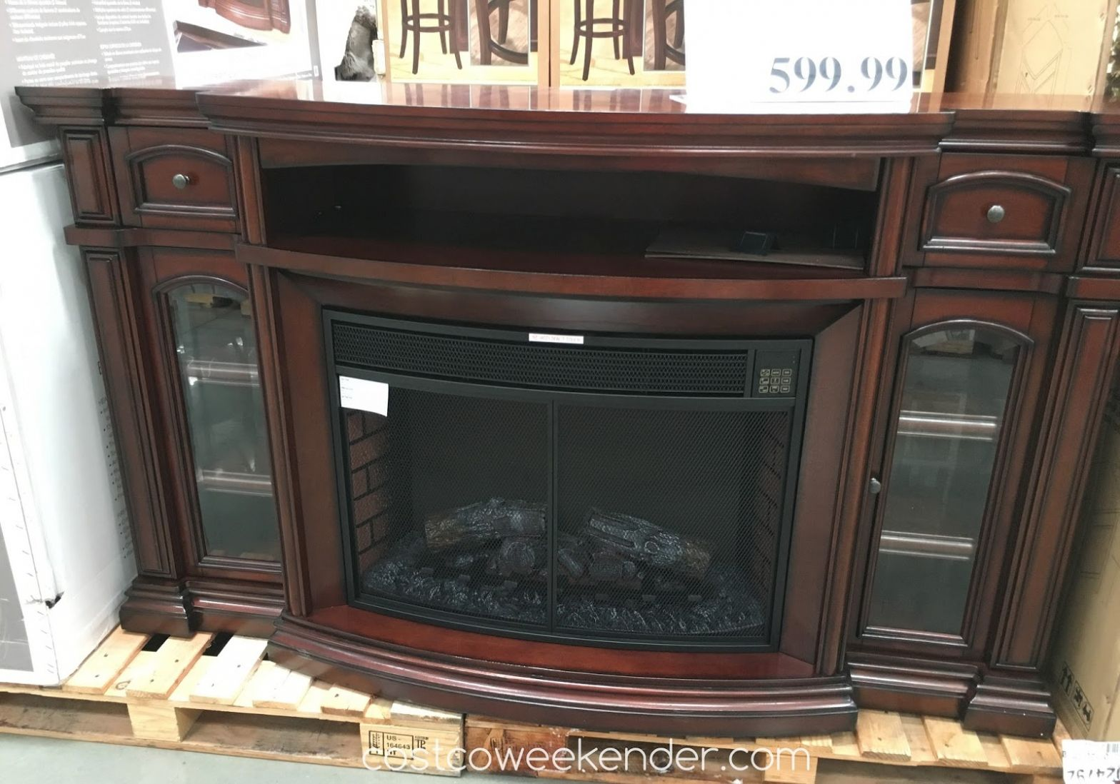 Fireplace Architecture Tv Stand With Electric Fireplace Costco