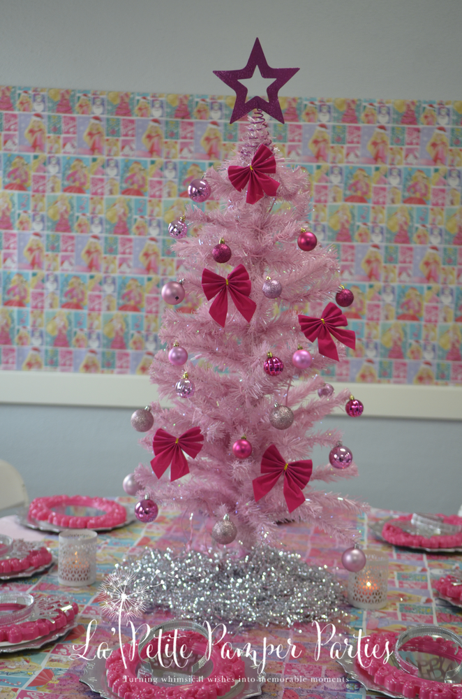 Christmas Birthday Party Ideas Spa party decorations and Christmas
