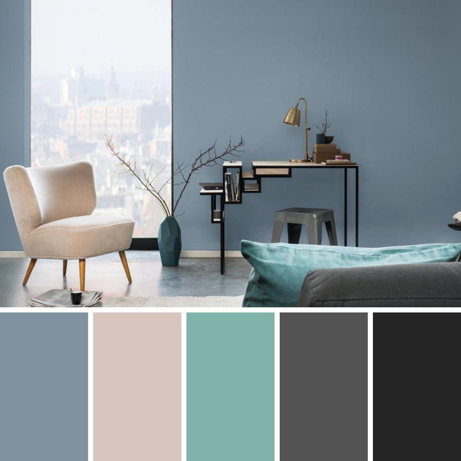Gris Humo Rosa Turquesa Decoracion De Habitacion Gris Paletas De Colores Grises Colores De Interiores