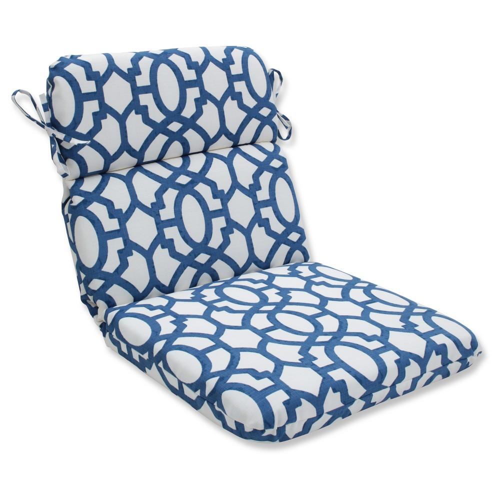 Outdoor/Indoor Nunu Geo Ink Blue Rounded Corners Chair